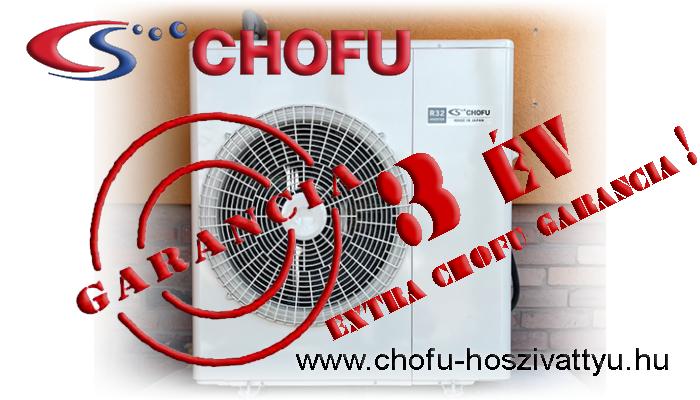 Chofu hőszivattyú garancia